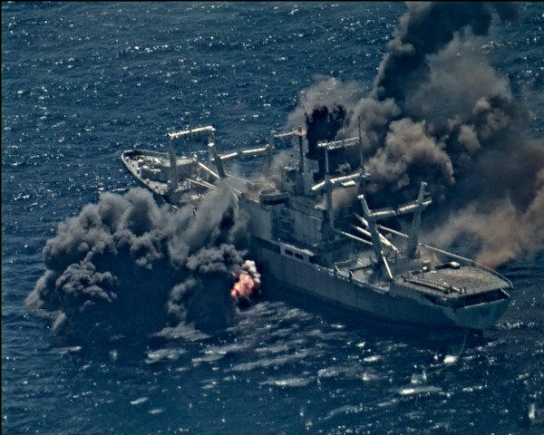 Watch the Navy blow the hell out of a warship in a not-so-subtle message to China