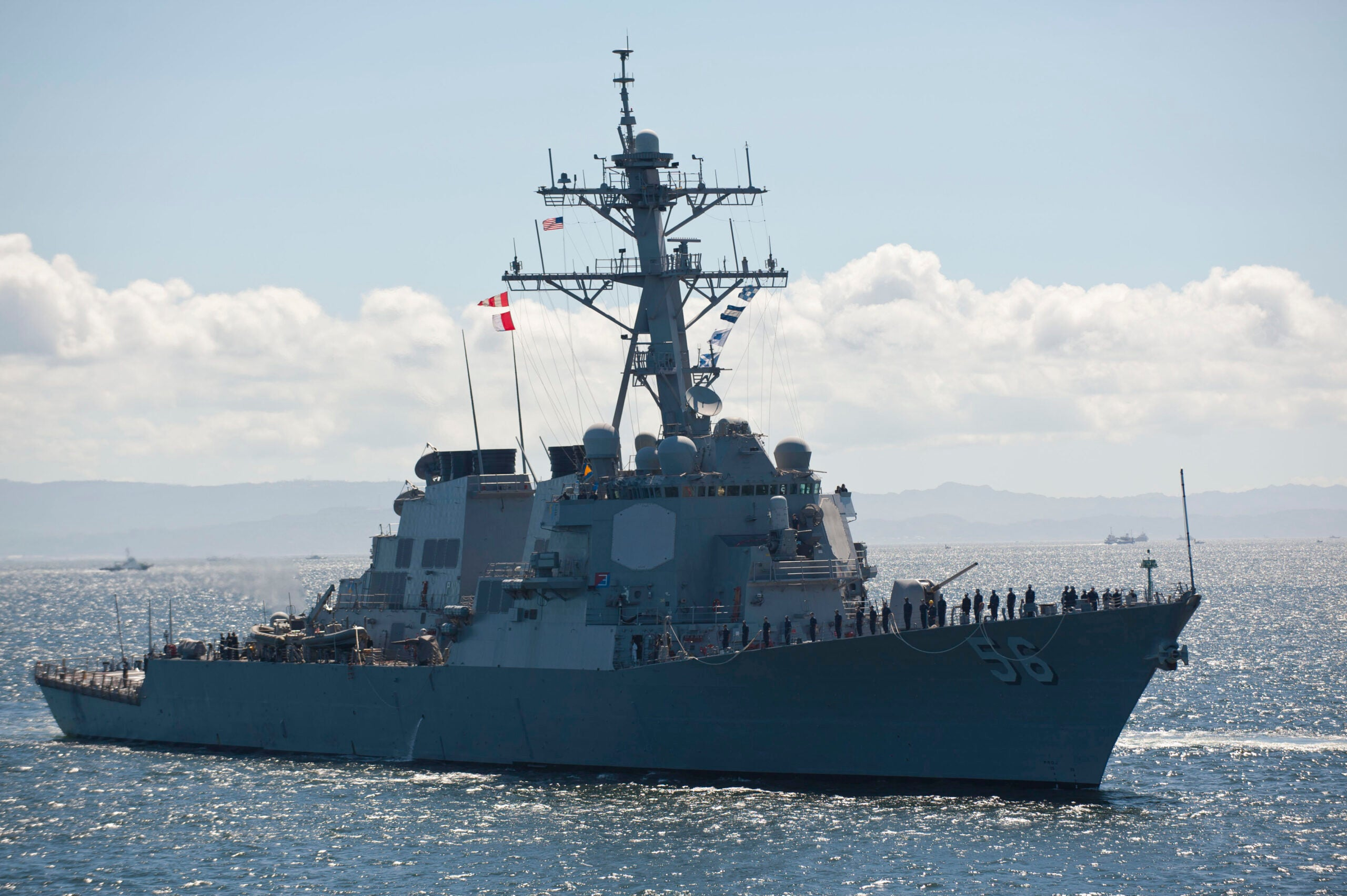 Russia claims it chased off a US Navy destroyer after threatening to ram it