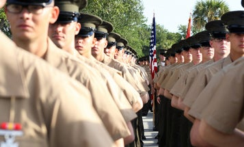 First Marine recruits begin training at Parris Island again after COVID-19 outbreak