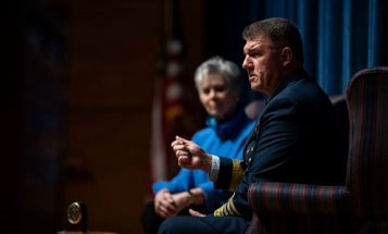 Coast Guard commandant sees growing role for Coasties on coronavirus, waffles on Confederate imagery