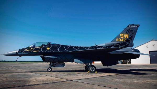 The Air Force's Viper demonstration team definitely goes hard in the paint