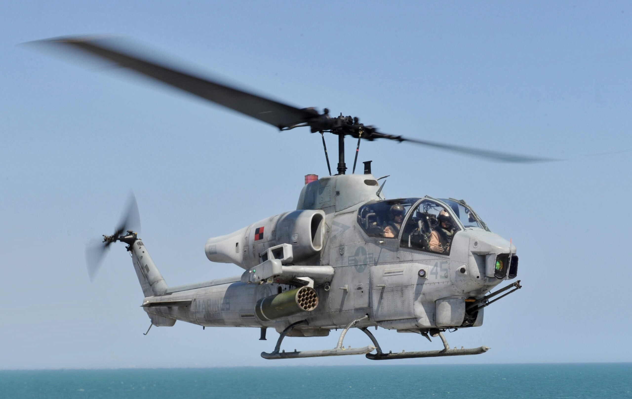 The Marine Corps AH-1W Super Cobra makes its final flight after more than 30 years of service