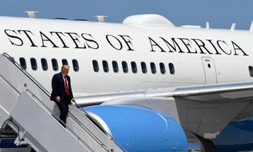Air Force One nearly hit by small drone