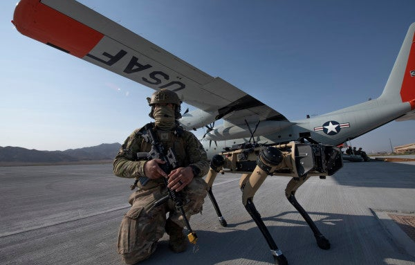 The Air Force just tested robot dogs as backup for security forces