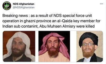 Afghan security forces claim they killed a senior Al Qaeda leader who is wanted by the FBI