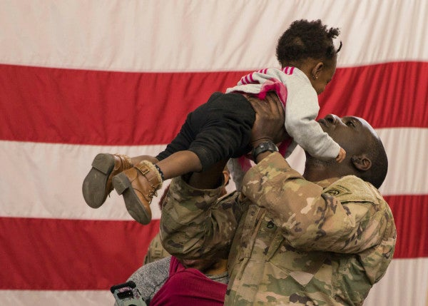 82nd Airborne soldiers return home from sudden deployment to the Middle East