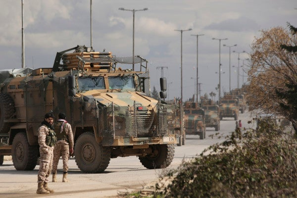 At least 22 Turkish soldiers killed in air strikes in Syria's Idlib