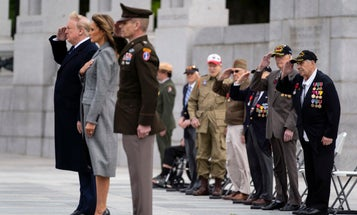 Trump, Esper, and Wilkie didn't wear masks while meeting with WWII veterans despite COVID-19 threat