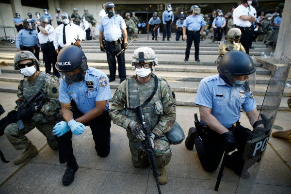 The National Guard won't punish soldiers who took a knee amid nationwide protests