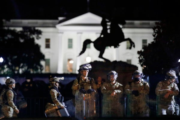 Trump praises National Guard for defending White House as Guardsmen say they're troubled by their mission