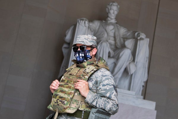 National Guard troops activated to help protect monuments in Washington DC amid ongoing protests