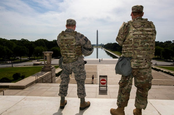 DC National Guard members test positive for COVID-19 after responding to protests