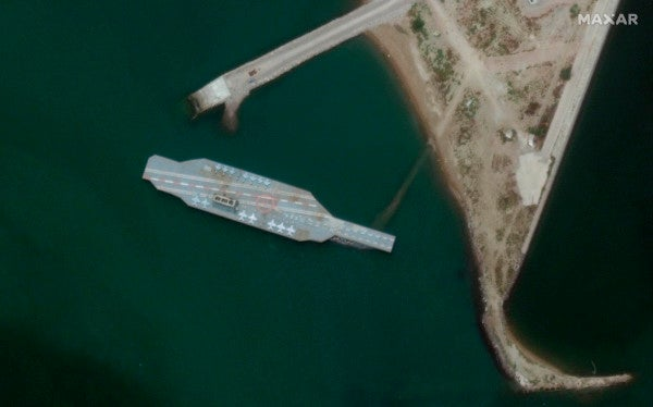 Iran is building a fake US Navy aircraft carrier for target practice