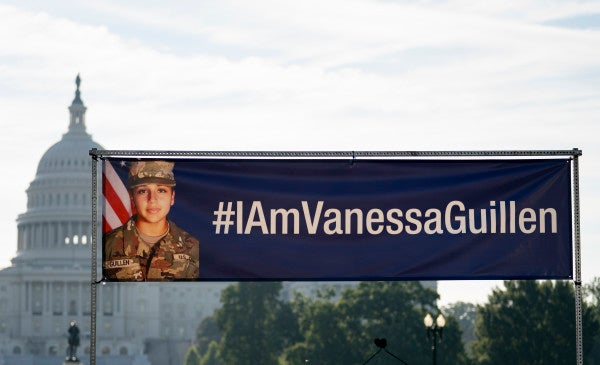 An image of slain Army Spc. Vanessa Guillén