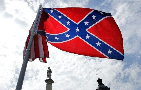 Waving Confederate Flag