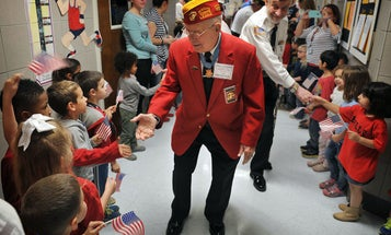 Iwo Jima's last living Medal of Honor recipient is still working for military families