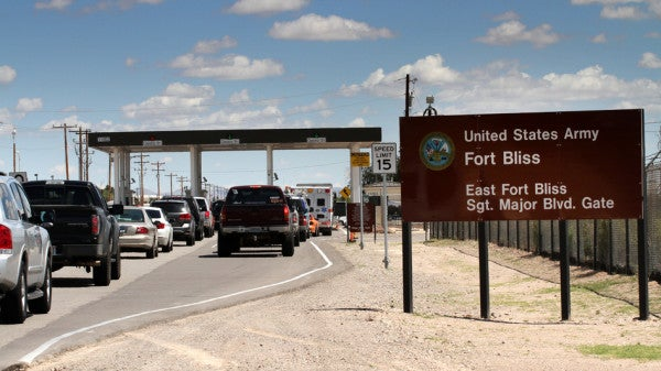 Fort Bliss soldier shot after allegedly pointing handgun at military police