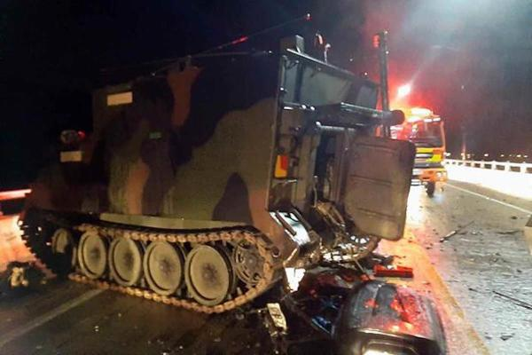 US military suspends some training in South Korea after armored personnel carrier crash kills 4 civilians
