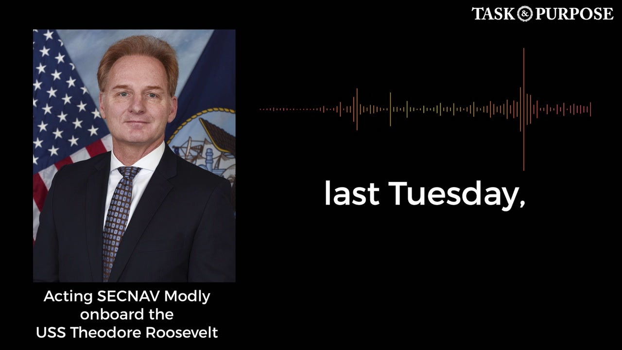 AUDIO: Acting Navy Secretary Thomas Modly addresses crew of USS Theodore Roosevelt