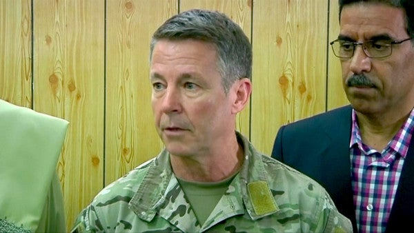 Top US commander in Afghanistan meets with Taliban to discuss reduction in violence