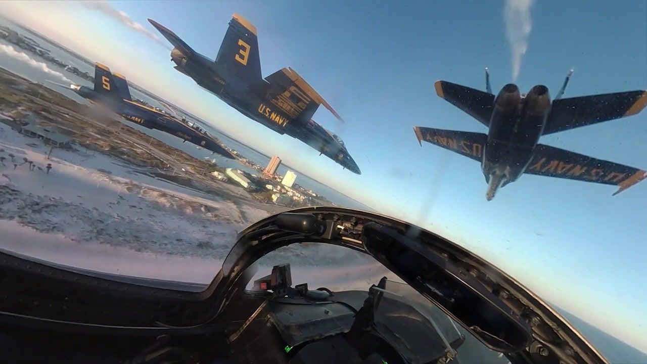Blue Angels final 'legacy' F/A-18 Hornet flight