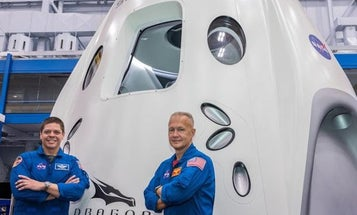 An airman and Marine are headed to space in the first US manned launch in nearly a decade