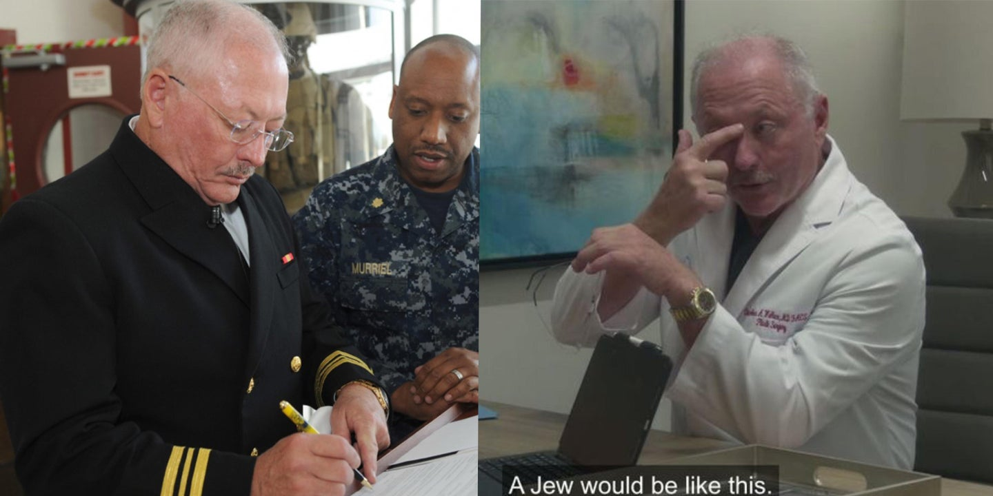 Navy reserve officer caught in 'Borat' sequel making anti-Semitic remarks
