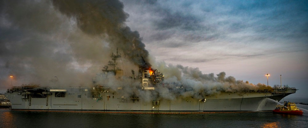 The Navy has decided to scrap the USS Bonhomme Richard