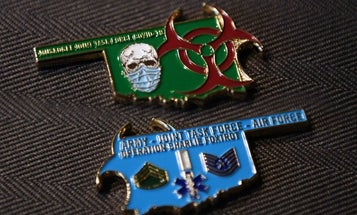 They really did it: National Guard members created a COVID-19 challenge coin
