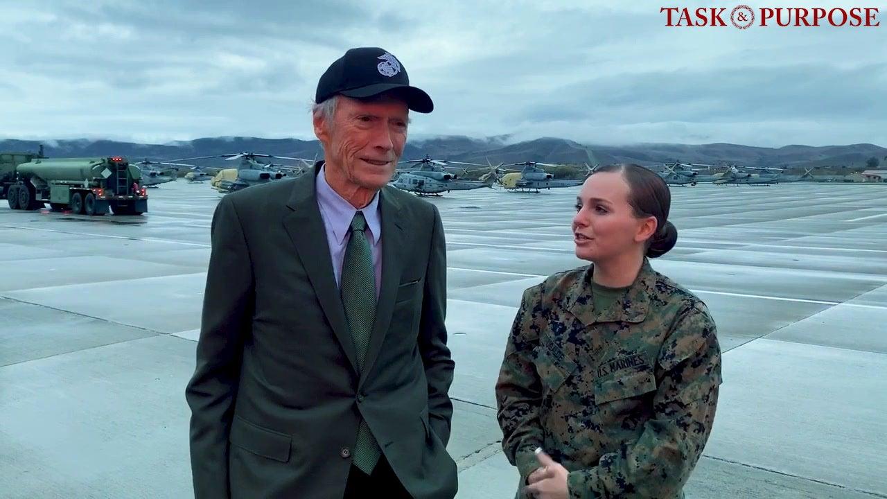 Clint Eastwood Visits Camp Pendleton