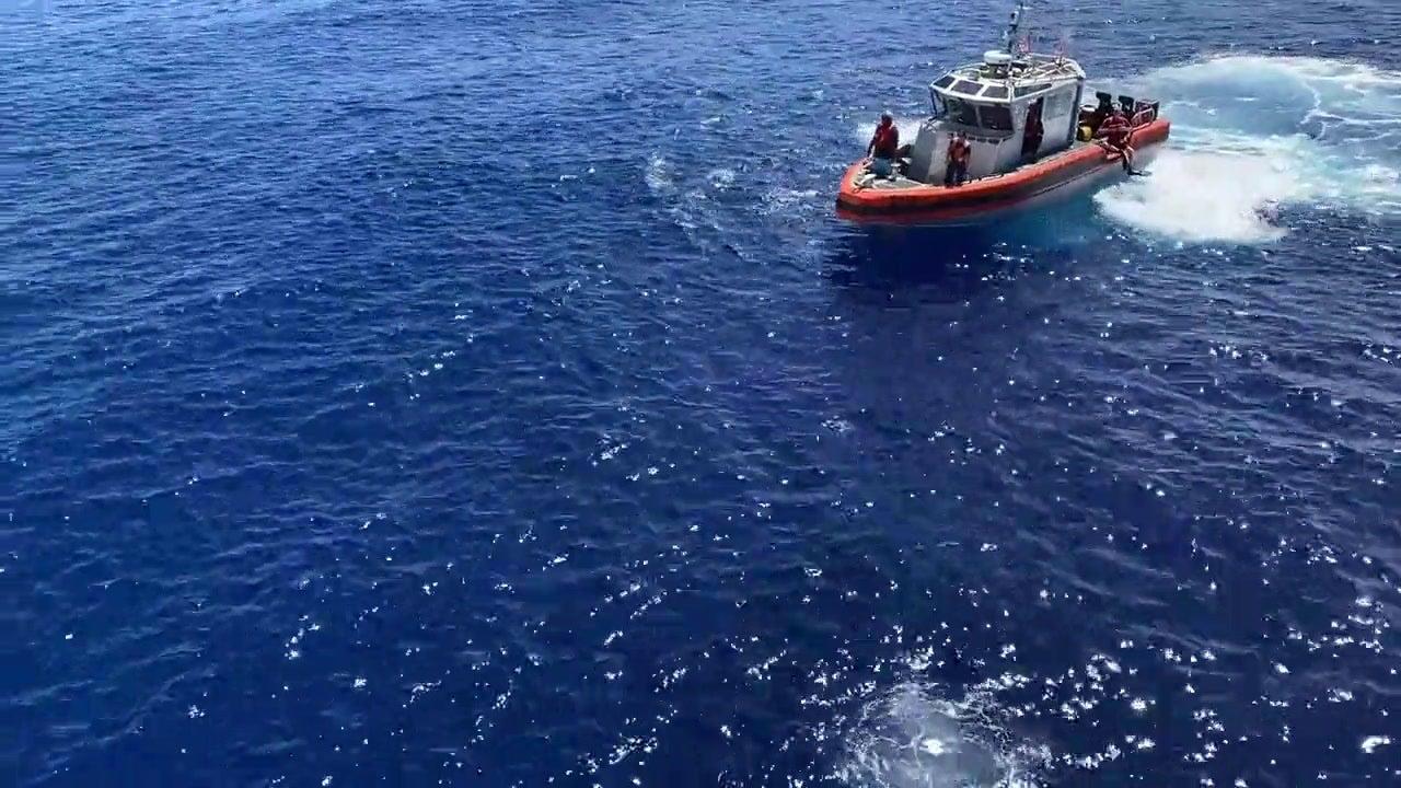 Coast Guard cutter crew encounters shark during swim call while patrolling Oceania