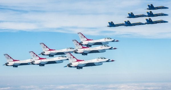 The military's Blue Angels and Thunderbirds flyovers aren't what America needs right now