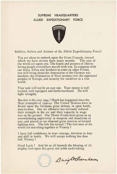 'The eyes of the world are upon you' — Read Gen. Eisenhower's letter to troops before D-Day