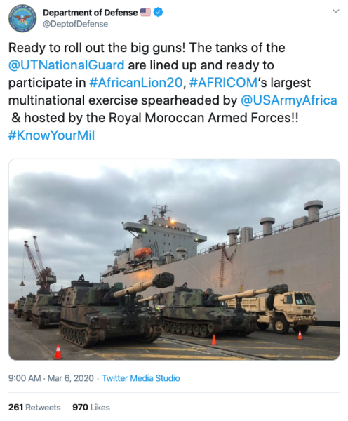 DoD tweets picture of 'tanks' that are definitely not tanks