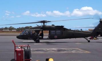 Black Hawk flight over Hawaii