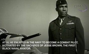Lt. Gen. Frank E. Petersen Jr., the first black Marine pilot and general