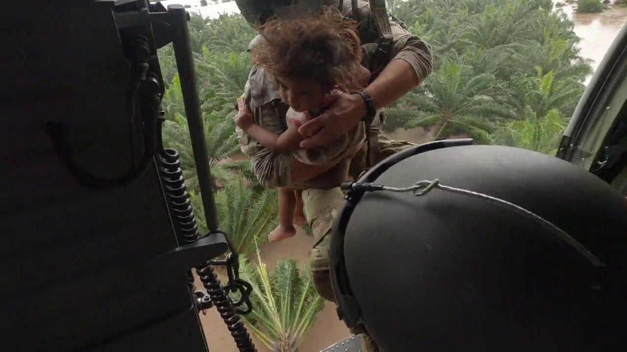 Black Hawk crew rescues a Honduran child from hurricane floodwaters