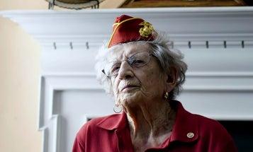 The oldest living US Marine celebrates her 107th birthday