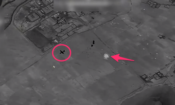 The militants fired an RPG at a C-130. They didn't expect the MQ-9 Reaper to respond