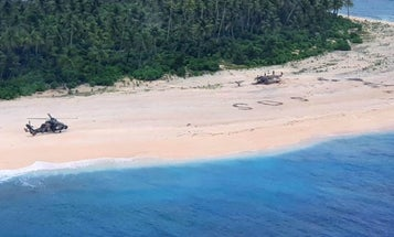 Believe it or not, writing 'SOS' in the sand when you're marooned on an island actually works