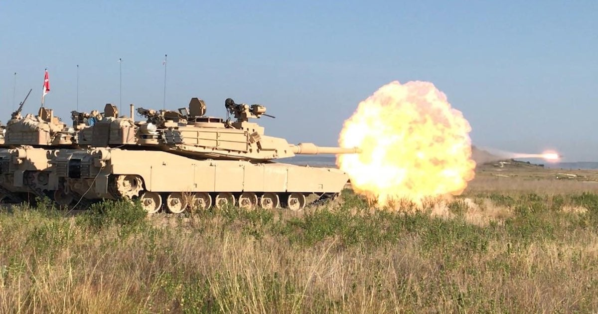 Watch the Army's souped-up new M1 Abrams fire its main gun in slow motion