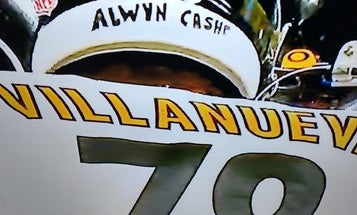 Alwyn Cashe just took the field on the helmet of a Steelers player and former Army Ranger