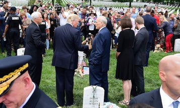'I was instantly furious' — Marine vet and Gold Star widow blasts Trump after seeing photo of him at her husband's grave in Arlington