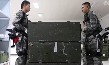 China appears to be testing a brand new military exoskeleton