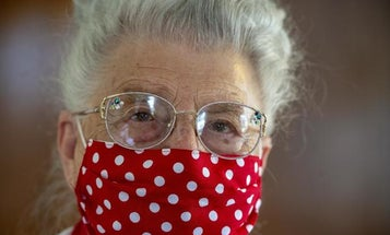 This 94-year-old went to work as an original 'Rosie' during World War II. Now, she's making face masks.