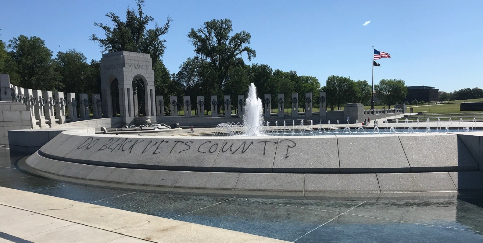 World War II Memorial among several on National Mall vandalized during protests