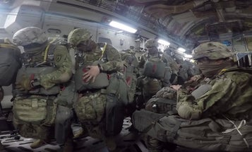Watch Army paratroopers drop into Guam as part of a training exercise