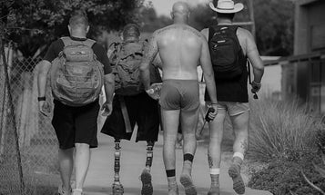 With 'humor and camaraderie,' veterans hike in silkies for suicide prevention