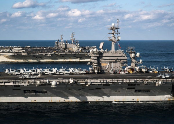 Behold The Glory Of 3 Carrier Strike Groups Flexing On North Korea's Doorstep