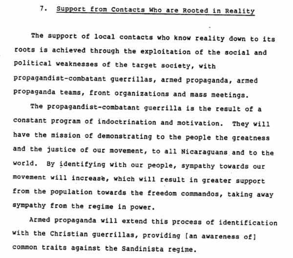 The Psyops Manual The CIA Gave To Nicaragua's Contras Is Totally Bonkers